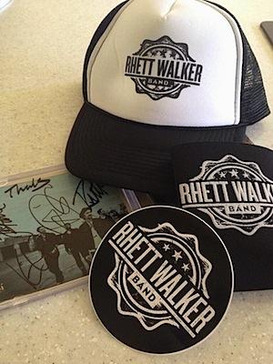 RWB  Hat, Koozie, Sticker, Signed CD